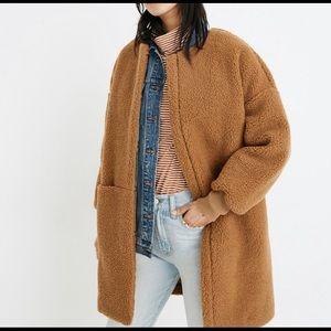 MADEWELL bonded Sherpa coat
